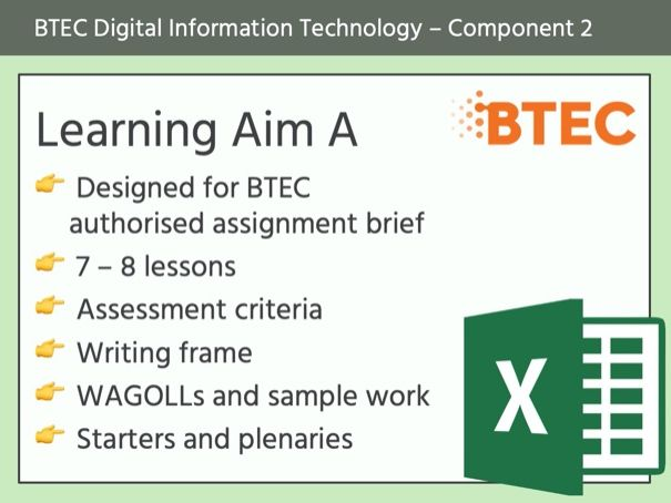 BTEC DIT - Component 2 (Learning Aim A)
