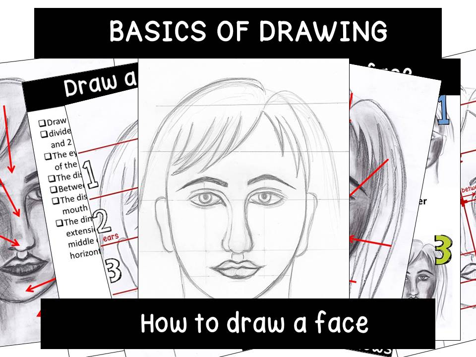 How to draw a face, basics of portraiture