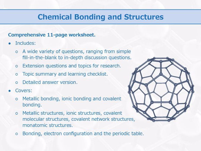 Chemical Bonding and Structures [Worksheet]