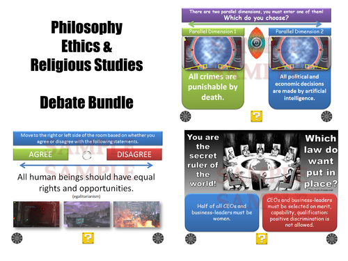 GCSE Religious Studies Debate Generators [Philosophy, Ethics & Religion Debate Bundle]