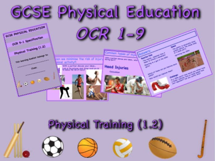 Physical Training GCSE OCR PE (1.2) Complete Learning Pack