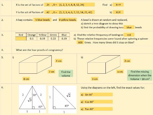 New Specification Foundation GCSE & KS3 Starter spreadsheet v1.31