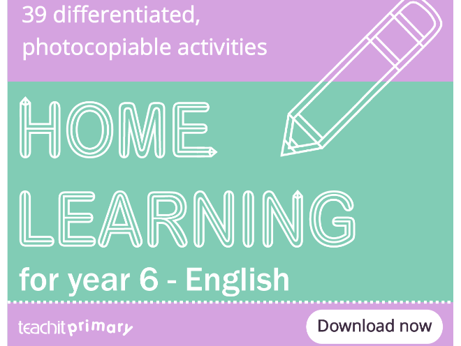 Home learning for year 6 - English