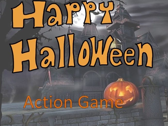 Halloween Actions Game Activity - Full Class Game - Grades 2-3 - PowerPoint