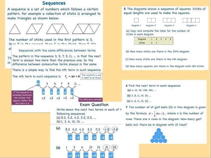 Sequence Mathematics For Cambridge IGCSE  Revision