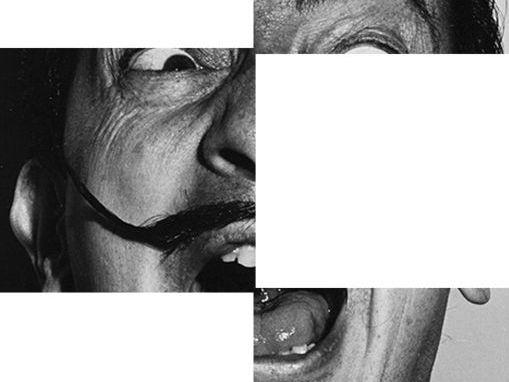 Salvador Dali Portrait and Surreal Drawing.
