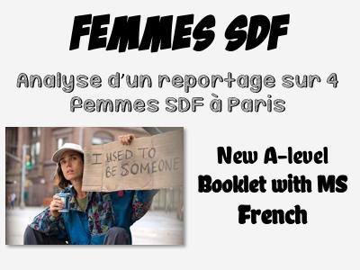 Femmes SDF à Paris - Reportage vidéo (New A-level French)