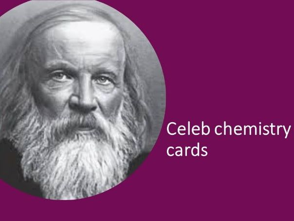 Chemistry celebs card game - elements with atomic number 100+ - more able - stretching