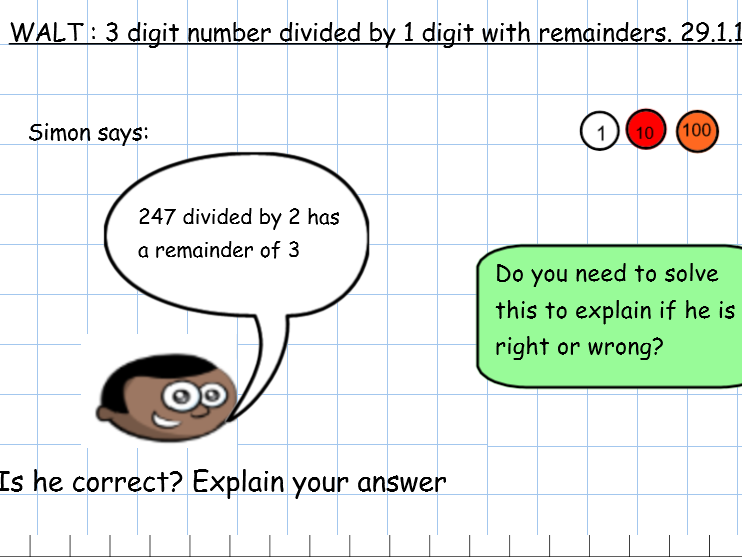 3-digit divided by a 1 digit number