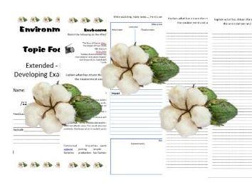 Environmetal Impact of Cotton -  Exam / Homework / Higher ability