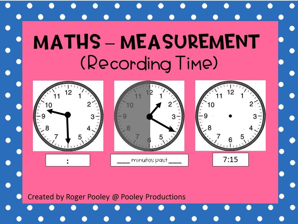 Recording Time - Assessment Sheet
