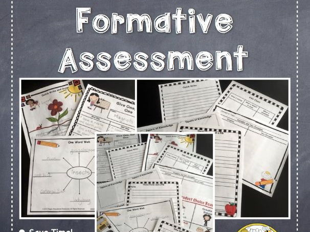 Formative Assessment: NO PREP Templates For Any Subject Area