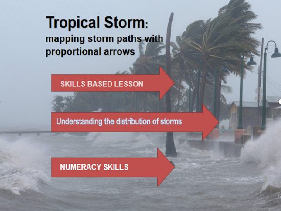 Tropical Storms choropleth map skills