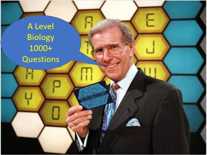 Interactive A Level Biology Vocabulary / Technical Term Blockbuster Revision Quiz Game