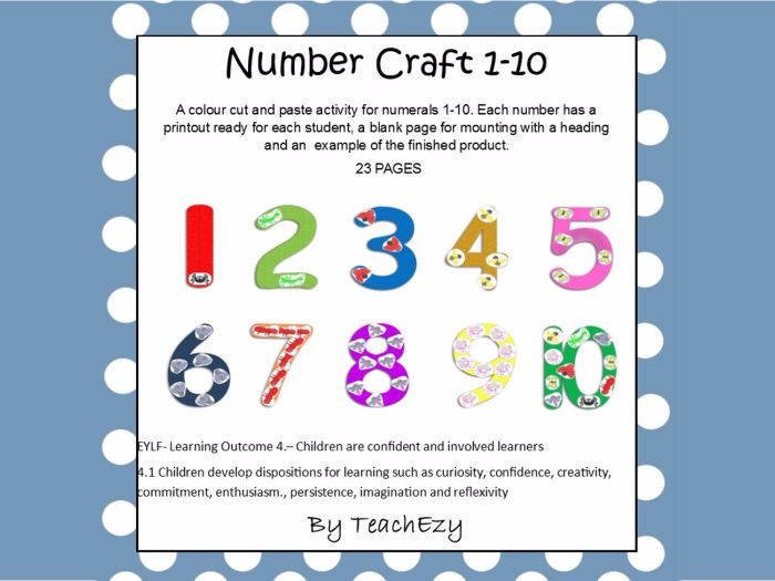Number Craft 1 to 10