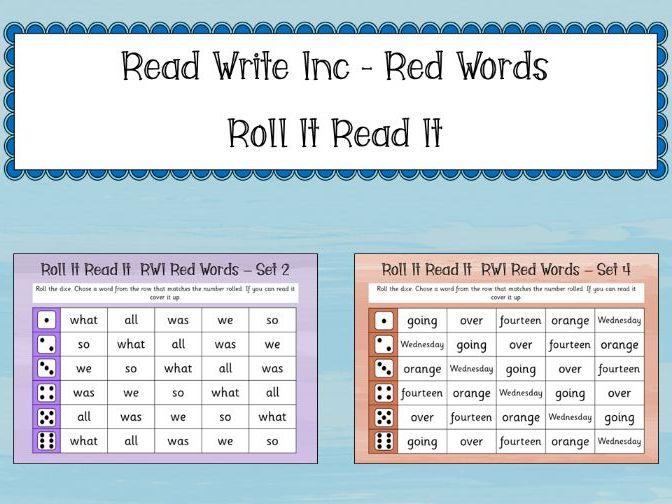 Phonics Read Write Inc - Red Words: Roll It Read It