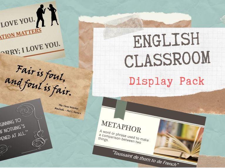 English Classroom Display Pack