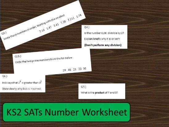 KS2 SATs Number Test Questions