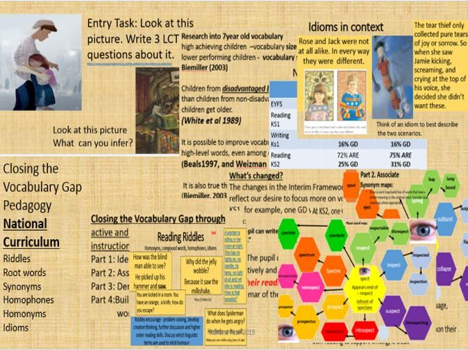 Closing the vocabulary gap to impact reading and writing