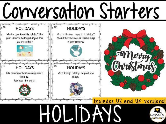 Conversation Starters Cards   Holidays   Volume #30 FREE!!!