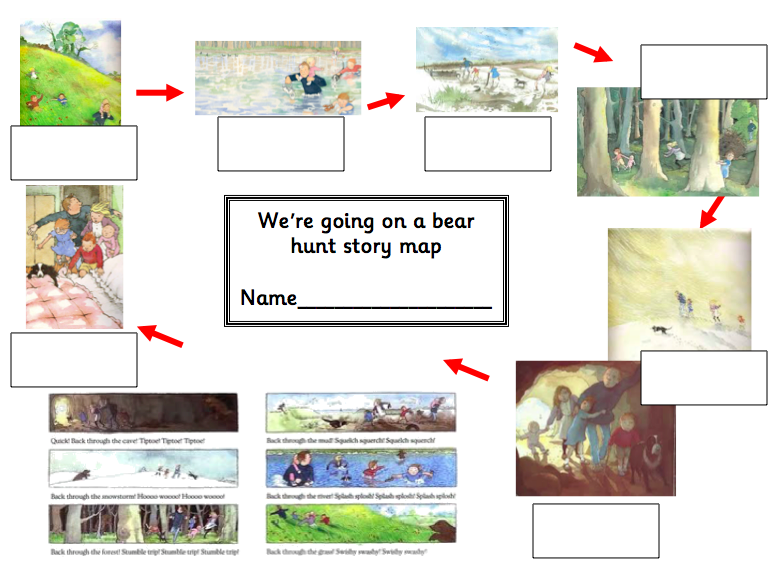 We Re Going On A Bear Hunt Story Map Includes Labelling Sheets Differentiated 5 Ways 11560321 on Blank Printable Worksheets For Pre