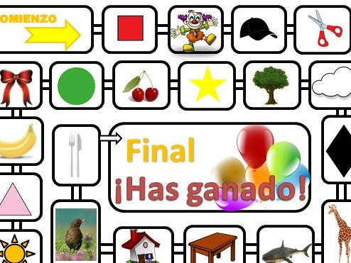 Spanish vocabulary dice game