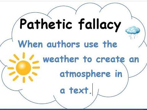 English Language Key Literature Terms Display