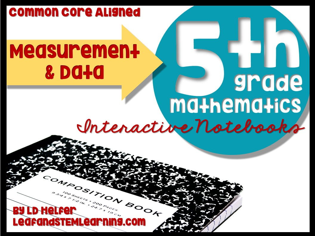Grade 5 Measurement and Data Common Core Interactive Notebooks