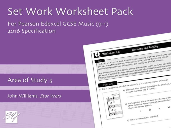Worksheet Pack for Pearson Edexcel GCSE Music (2016 Specification) - Area of Study 3, Set Work 6