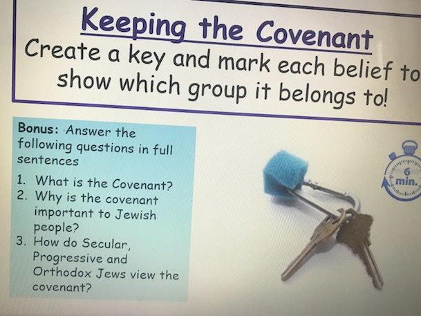 KS3 Judaism -  Covenant - Lesson 3