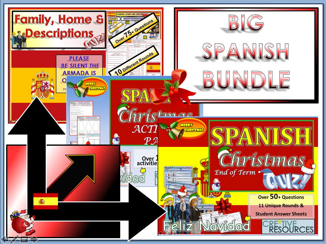 Spanish MFL Christmas Teaching resources