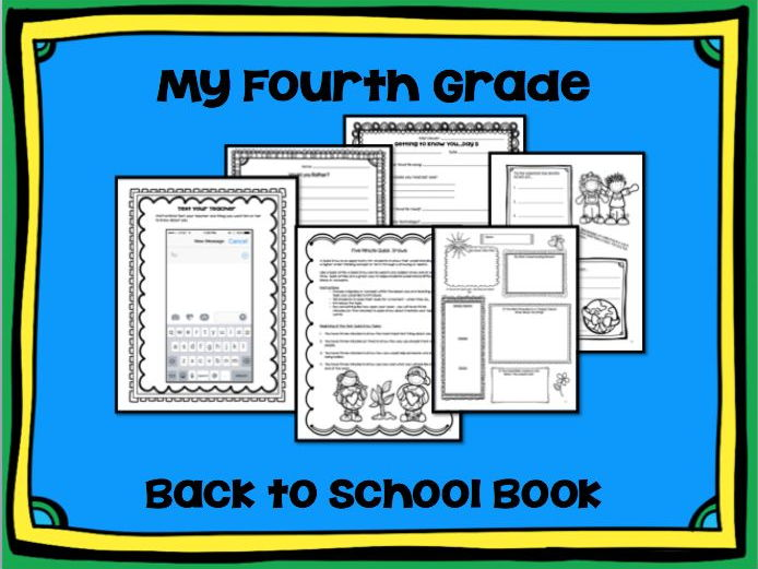 My Fourth Grade Back to School Book: Interactive Notebook, Ice Breakers, Early Finishers