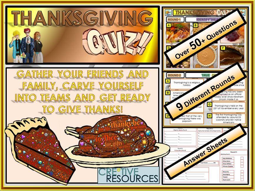 Thanksgiving Quiz Lesson