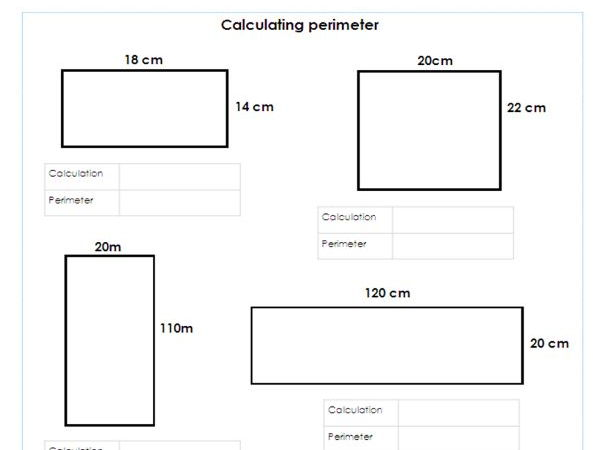 Year 5 / 6 Perimeter of shapes -Differentiated worksheets