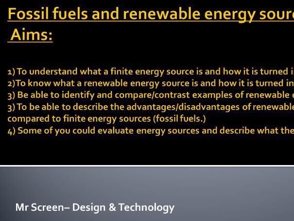 Non renewable and renewable energy sources for sustainability