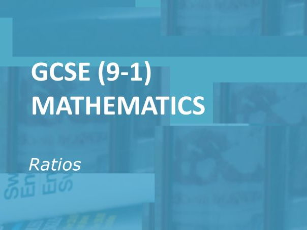 GCSE (9-1) Mathematics.  Ratio Worksheets.