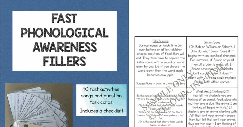 Fast Phonological Awareness Fillers