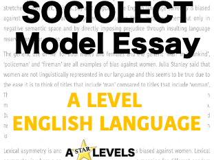 Social Group Example Essay A Level English Language