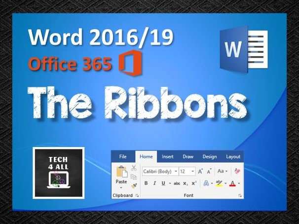 Microsoft Word: The Ribbons