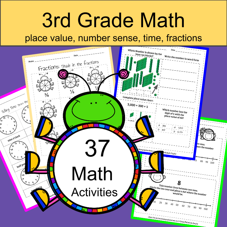 3rd Grade Math Place Value Time And Number Sense By Thesaylers
