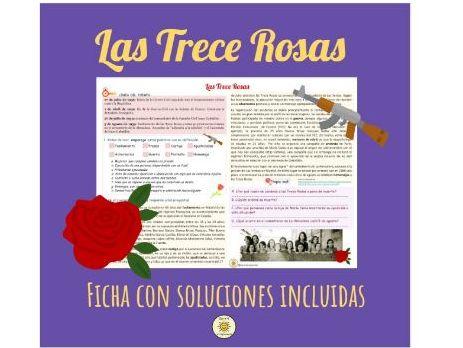 Las Trece Rosas. Franco La dictadura franquista. Las dos Españas. Spanish A Level. Answers included