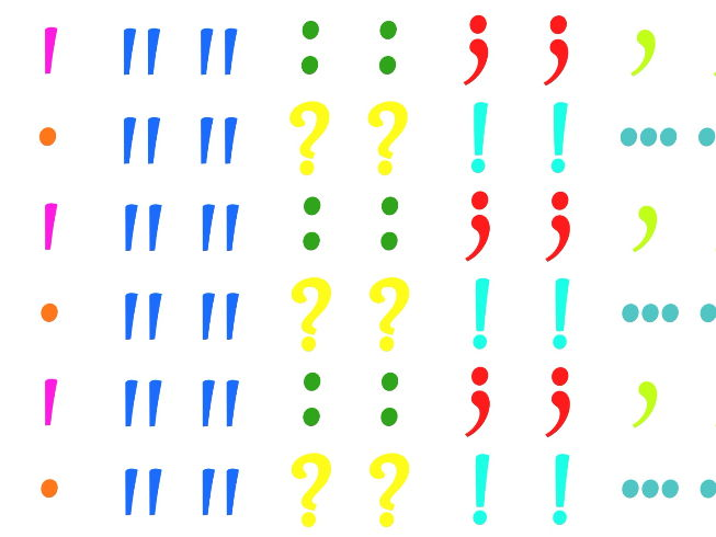 Punctuation Marks Stickers (Avery L7651) / English / SEN students