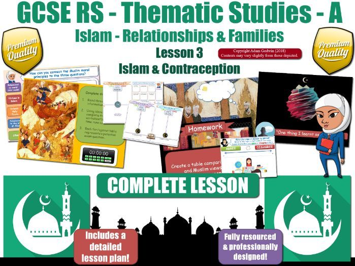 Contraception - Islamic Teachings & Muslim Views (GCSE RS - Islam - Relationships & Families) L3/7