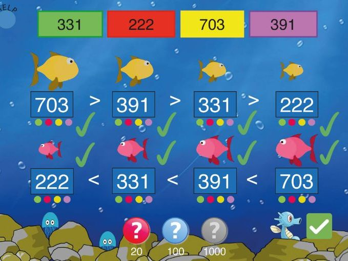 Compare & Order Numbers 1.  Interactive Teaching Resource