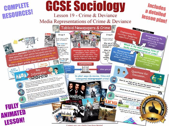 Media Representations & Moral Panics - Crime & Deviance L19/20 [ AQA GCSE Sociology - 8192] Folk New