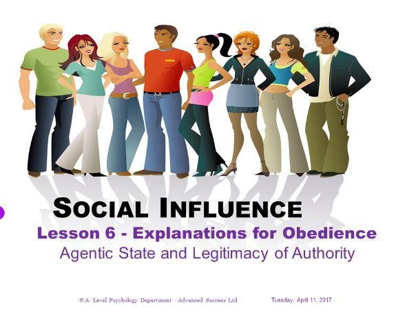 Powerpoint - Social Influence - Lesson 6 - Explanations for Obedience
