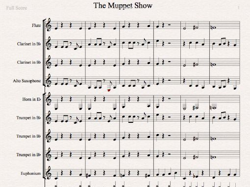 The Muppet Show - Multi-part arrangement in Sibelius