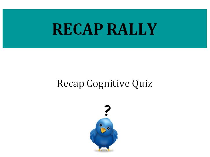 Cognitive Psychology - Recap Quiz