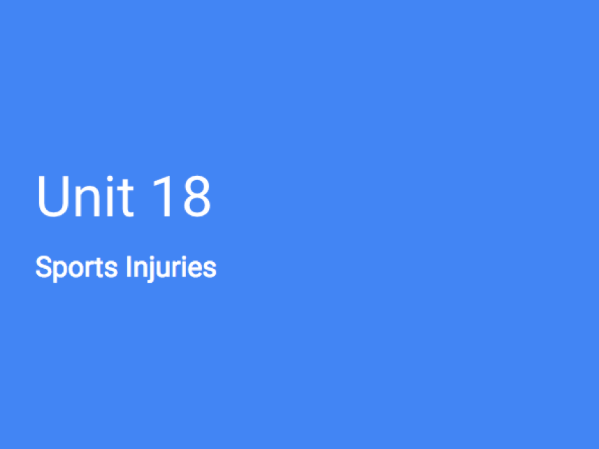 BTEC Sport L3 (OCR) Unit 18 - Sports injuries (Full unit)