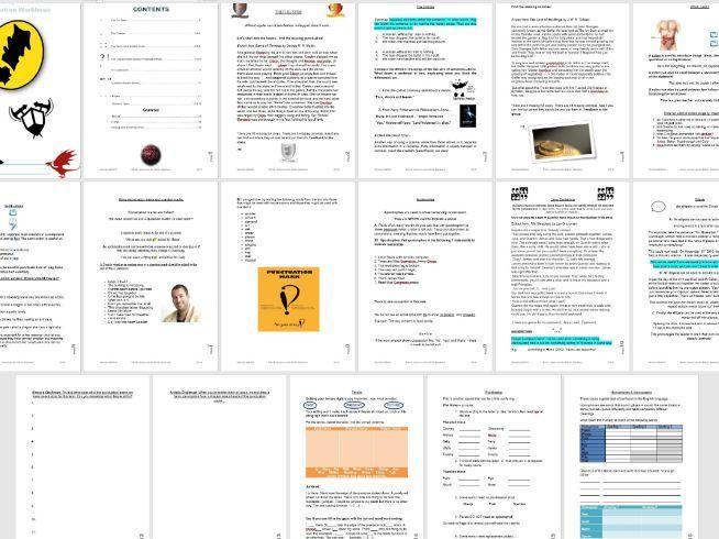 AQA 8700 GCSE English Language - AO6 Fantasy Fiction SPaG Workbook & ppt